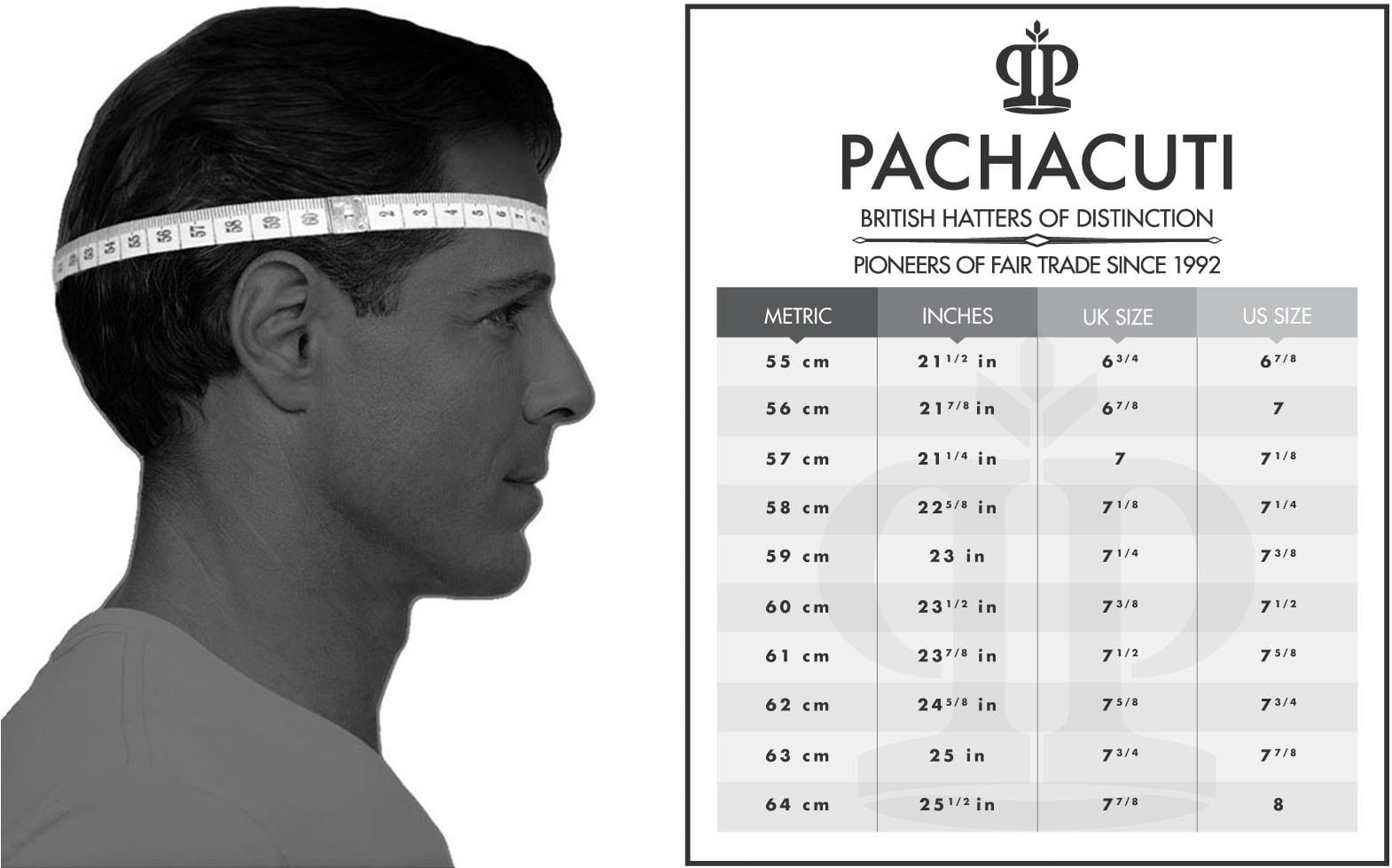 Hat Size Guide Pachacuti