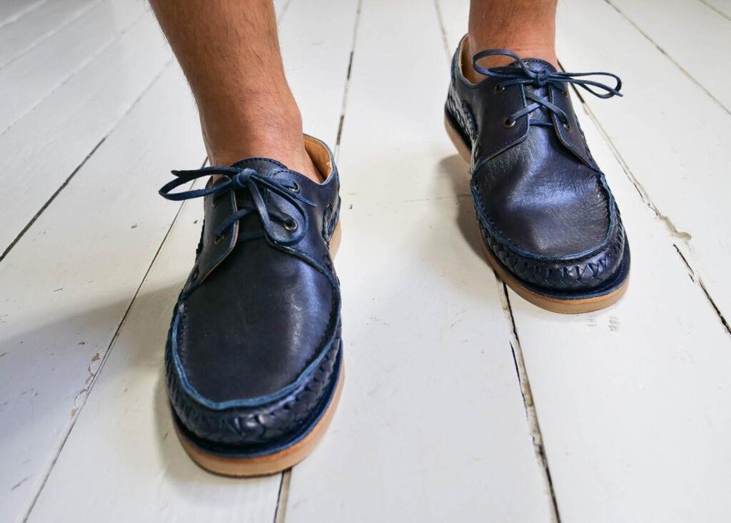 Braided Boat Shoe Navy