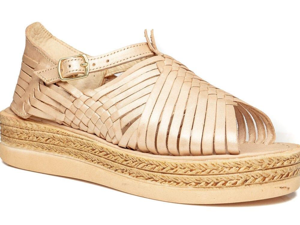 Chloe Raised Sandals Rose Gold