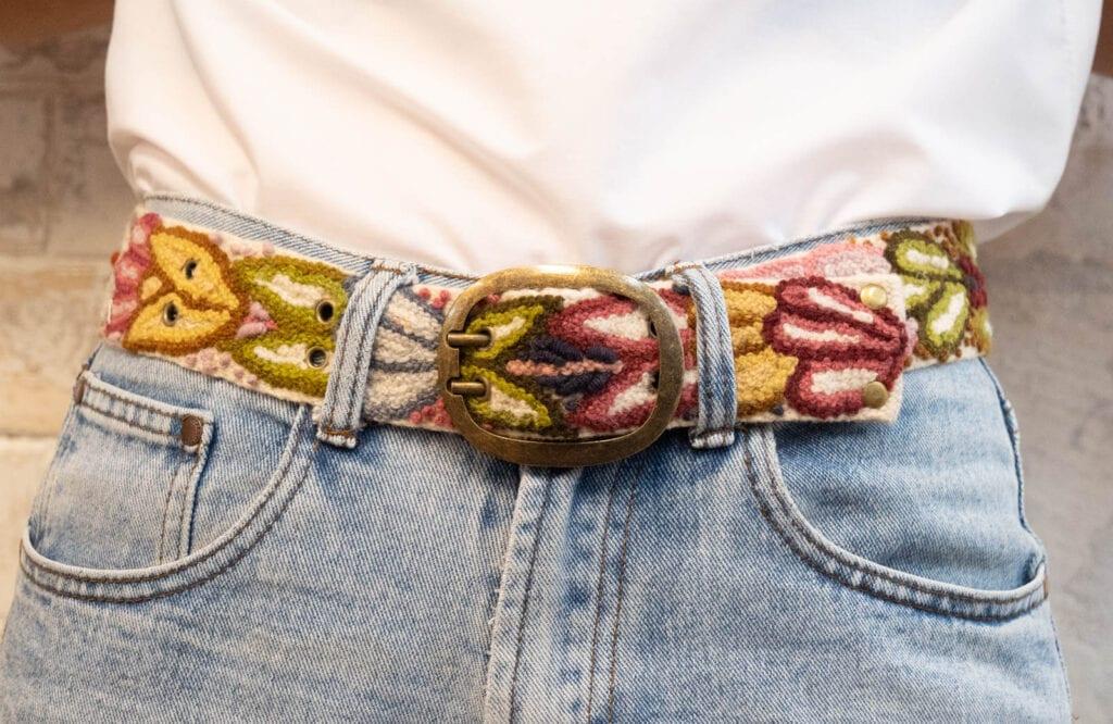 Winter Garden Embroidered Belt